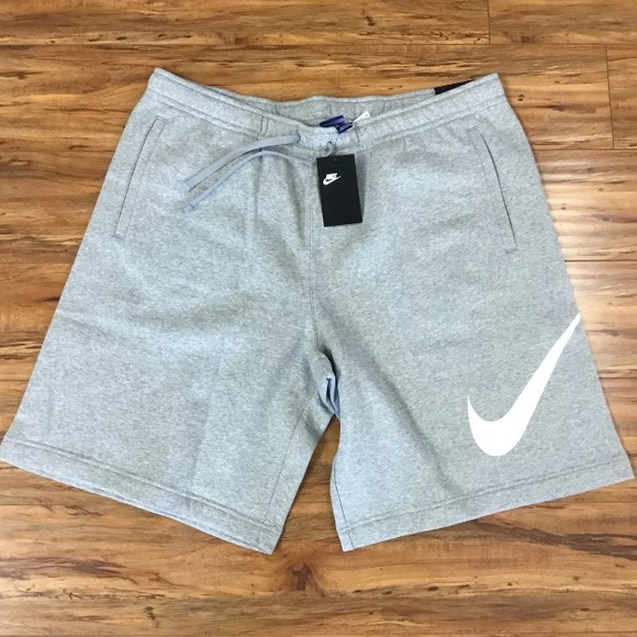 Grey Nike Swoosh Mens Cotton Shorts b034790a1